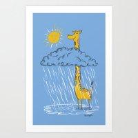 The Perks of Being a Giraffe Art Print