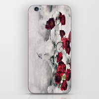 Winter  Red Roses iPhone & iPod Skin