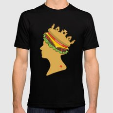 Burger Queen aka Royal With Cheese Black Mens Fitted Tee SMALL