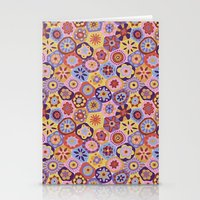 Millefiori-Sunset colorway Stationery Cards