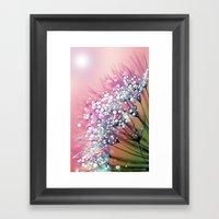 Rainbow Dandelion Framed Art Print
