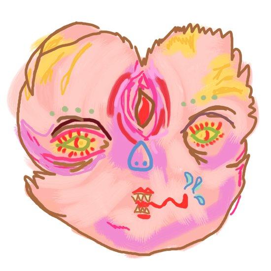creepah face Art Print