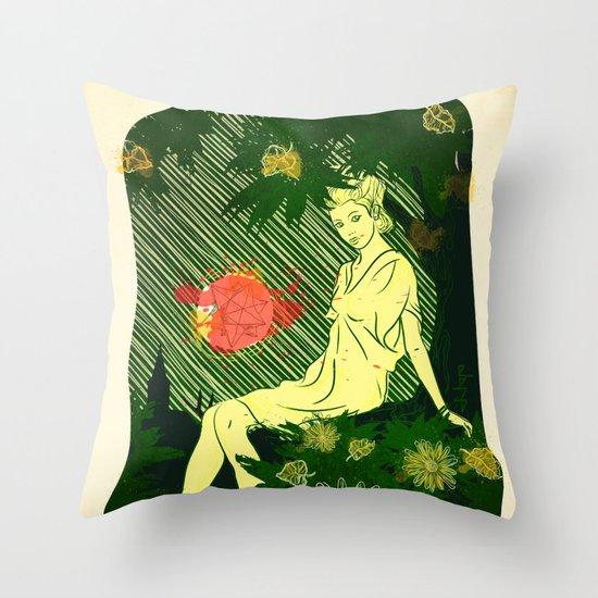 Divina Melancholia Throw Pillow