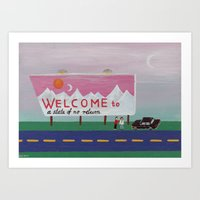Welcome To A State Of No… Art Print