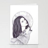 Wolf Moon Stationery Cards