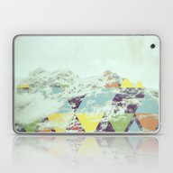 Laptop & iPad Skin featuring Triangle Mountain by Metron