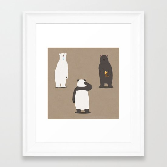 Black or White Framed Art Print