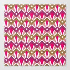 Deco Diamond Tiles in red Canvas Print