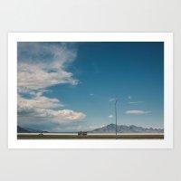 Bonneville Salt Flats Ut… Art Print