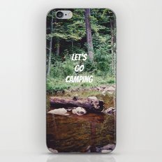 Let's Go Camping II iPhone & iPod Skin
