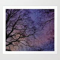 Violet Skies Art Print