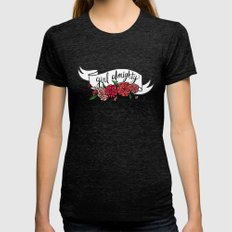 Girl Almighty Womens Fitted Tee Tri-Black SMALL