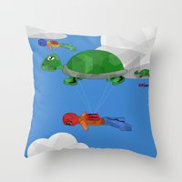 Paraturtle Throw Pillow