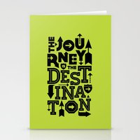 Green Journey Quote Stationery Cards