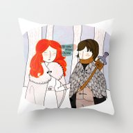 You Know Nothing Throw Pillow