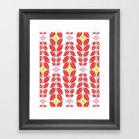 Cortlan | Cherry Red Framed Art Print