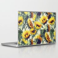 Laptop & iPad Skin featuring Sunflowers Forever by Micklyn