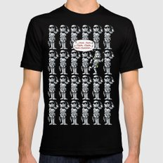Happy Trooper SMALL Mens Fitted Tee Black