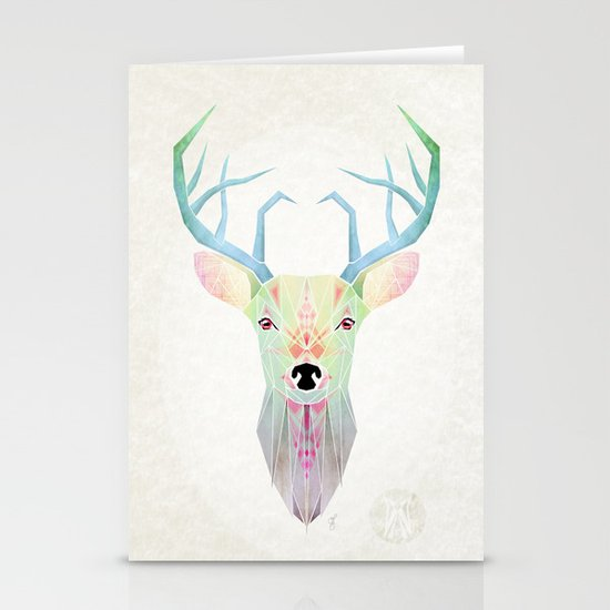 white deer Stationery Card