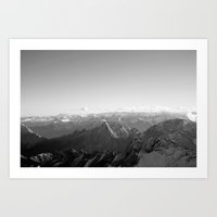Mountain Alps Black and White Photography Europe Art Print