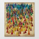 Colorful Conifers Canvas Print