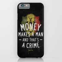 iPhone Cases featuring a crime by Kingu Omega