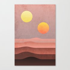 tatooine sunset Canvas Print