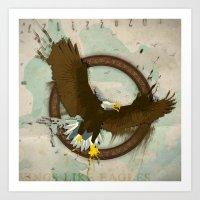 Grunge Eagle Art Print