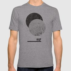 Calculating a Jump over the Moon Mens Fitted Tee Athletic Grey SMALL