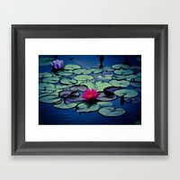 Twilight At The Lily Pon… Framed Art Print