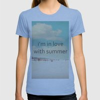 i'm in love with summer Womens Fitted Tee Athletic Blue SMALL