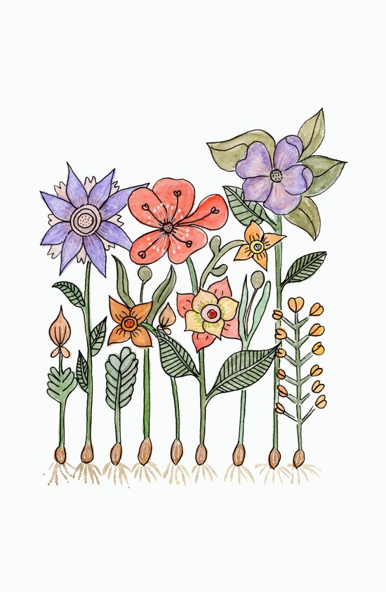 Progress flowers Art Print