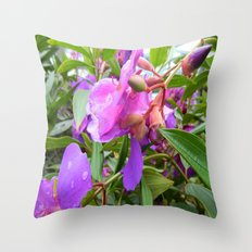 Ans - Tibouchina Flowers Throw Pillow