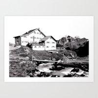 Neue Regensburger Hütte Art Print