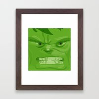 Post it portrait: The Hulk Framed Art Print