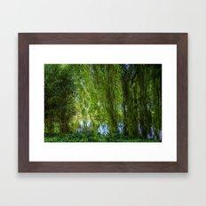 Under The Willow Tree Framed Art Print