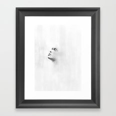 Out of the wall - ipad painting Framed Art Print