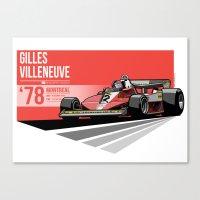 Gilles Villeneuve - 1978… Canvas Print
