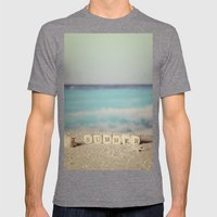 Summer Mens Fitted Tee Tri-Grey SMALL