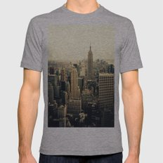 Empire State Building Mens Fitted Tee Athletic Grey SMALL