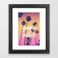 good vibes 3 Framed Art Print