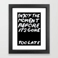 IT'S GONE Framed Art Print