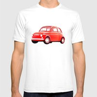 Cinquecento Mens Fitted Tee White SMALL