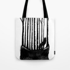 Wolf Barcode Tote Bag