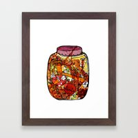 Preserved vegetables Framed Art Print