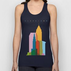 Shapes of Cleveland accurate to scale Unisex Tank Top