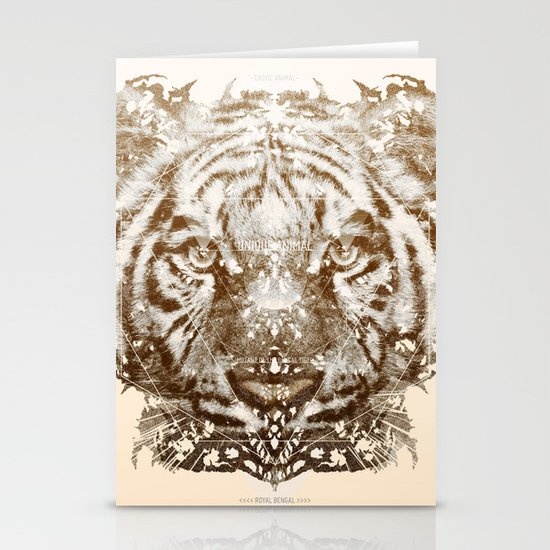 The White Tiger (Gold Version) Stationery Card