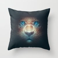 Red Tiger Throw Pillow