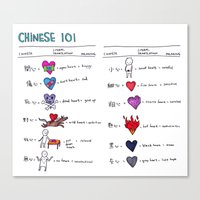 chinese 101 Canvas Print