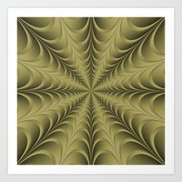 Golden Web Art Print